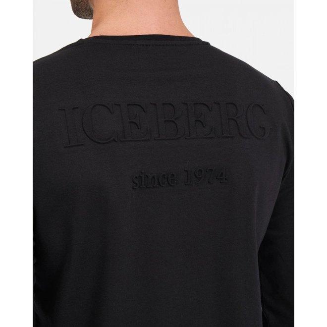 Zwarte Iceberg Longsleeve met Heritage Logo