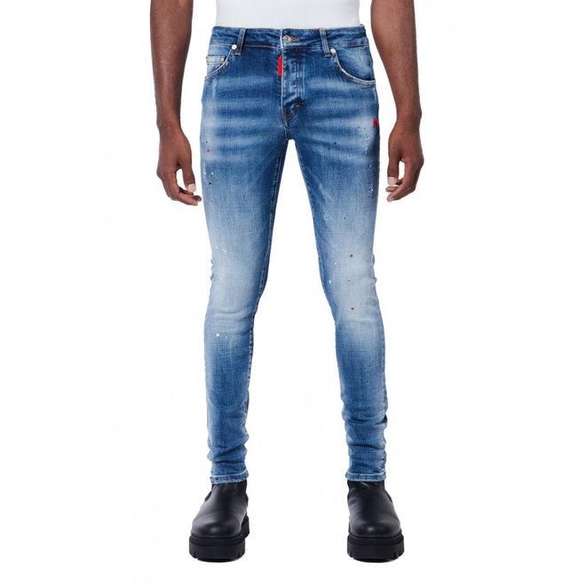 My Brand | Red Spot Denim Jeans