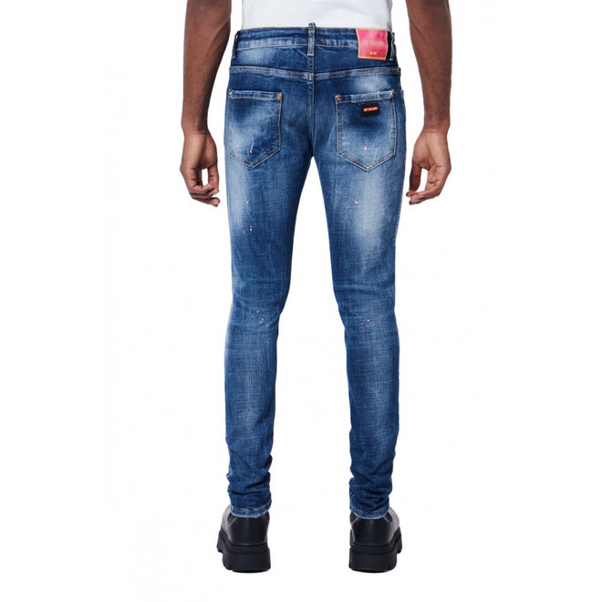 Neon Pink Spots Denim Jeans | My Brand