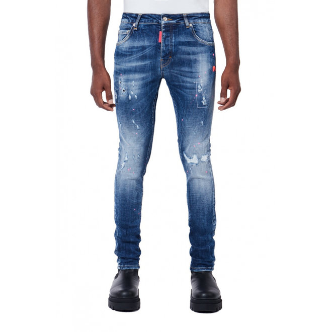 My Brand | Neon Pink Spots Denim Jeans