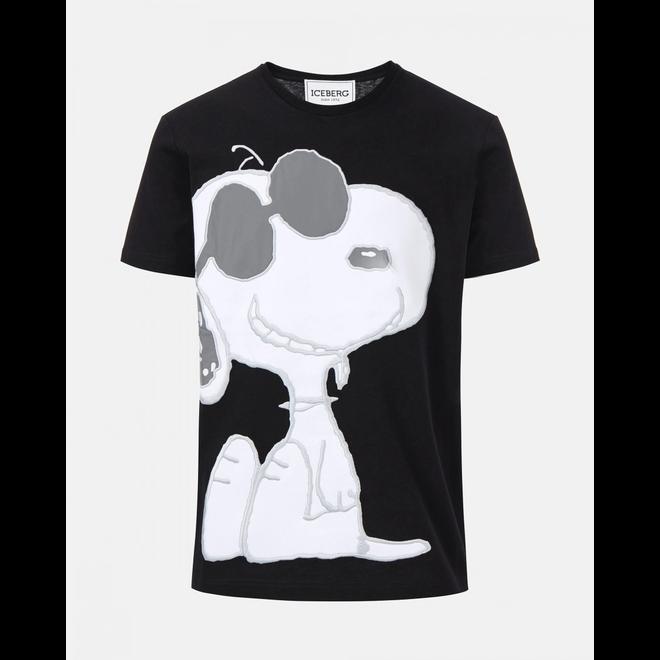 Iceberg | T-shirt Snoopy | Zwart