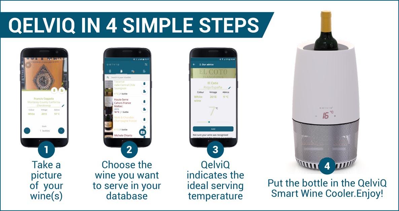 QelviQ Smart Wine Cooler explained in 4 simple steps.