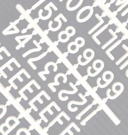 """Funkk Letterset M wit (1 inch)""""etters"""