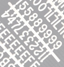 "Funkk Set de lettres M blanc (1""inch)"