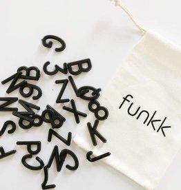 """Funkk Letterset M zwart (1 inch)""""letters"""