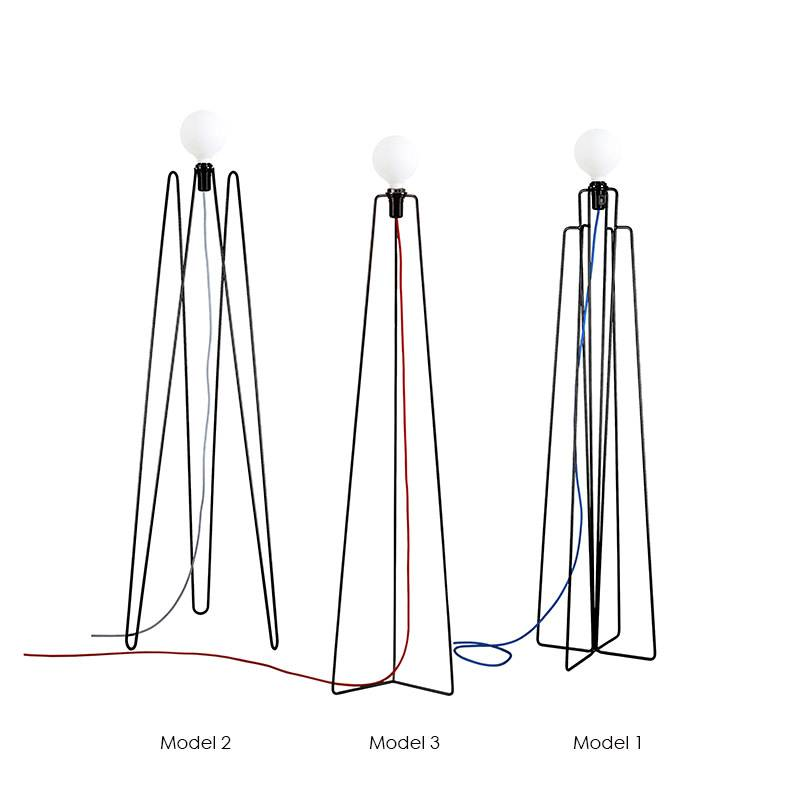 Grupaproducts Lampadaire Model2 zwart