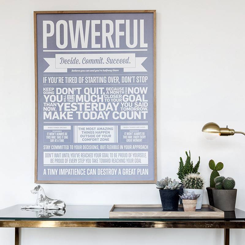 I Love My Type Poster 'Powerful'