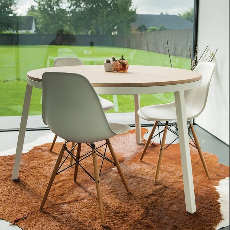 Verwonderlijk Opsmuk: Tafel Eik rond. Prachtig Design & Belgisch! - Livingdesign GE-76