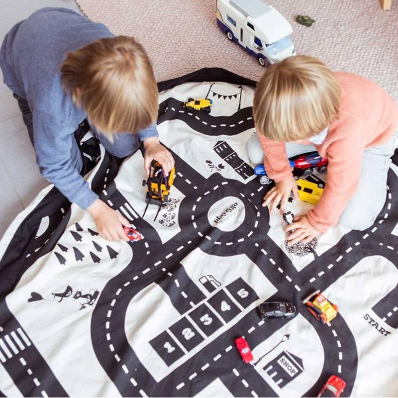 Play&Go Roadmap Sac de jouets- tapis de jeu