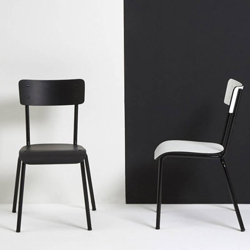 Les Gambettes Retro Chaise Suzie blanc/noir