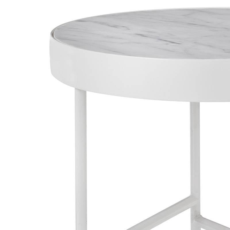 Fermliving Marmeren salontafel wit