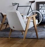 366 Concept 366 Armchair Tweed - Sur les photos vou voyez le bois chêne naturel!