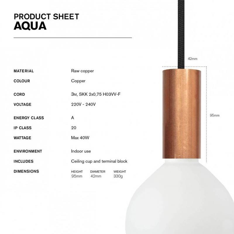 NUD Collection Tube Aqua lampe suspendue