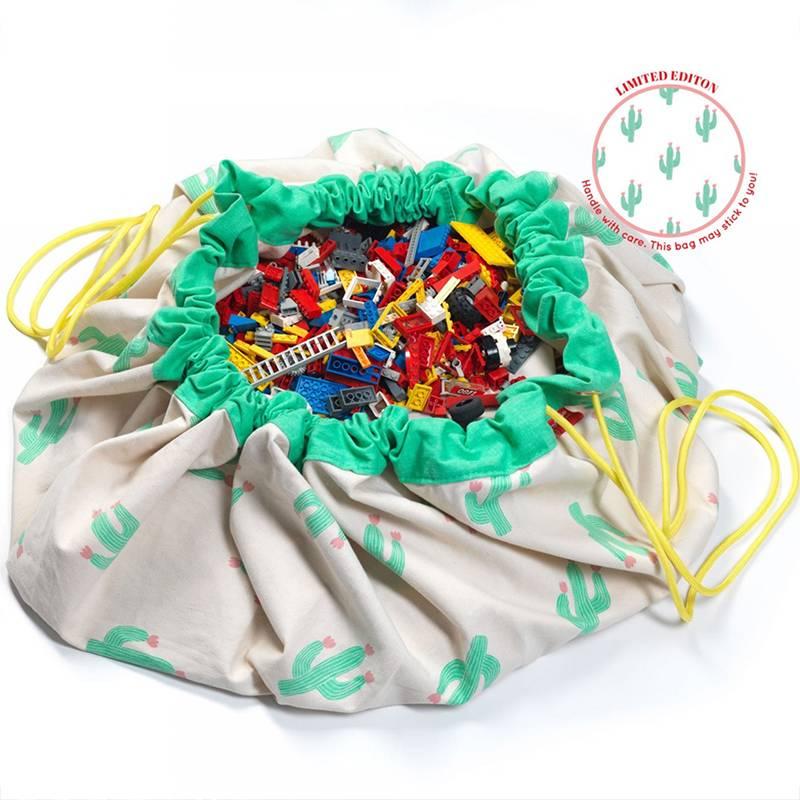Play&Go Cactus Sac de jouets- tapis de jeu
