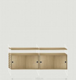 String Dressoir wit/eik