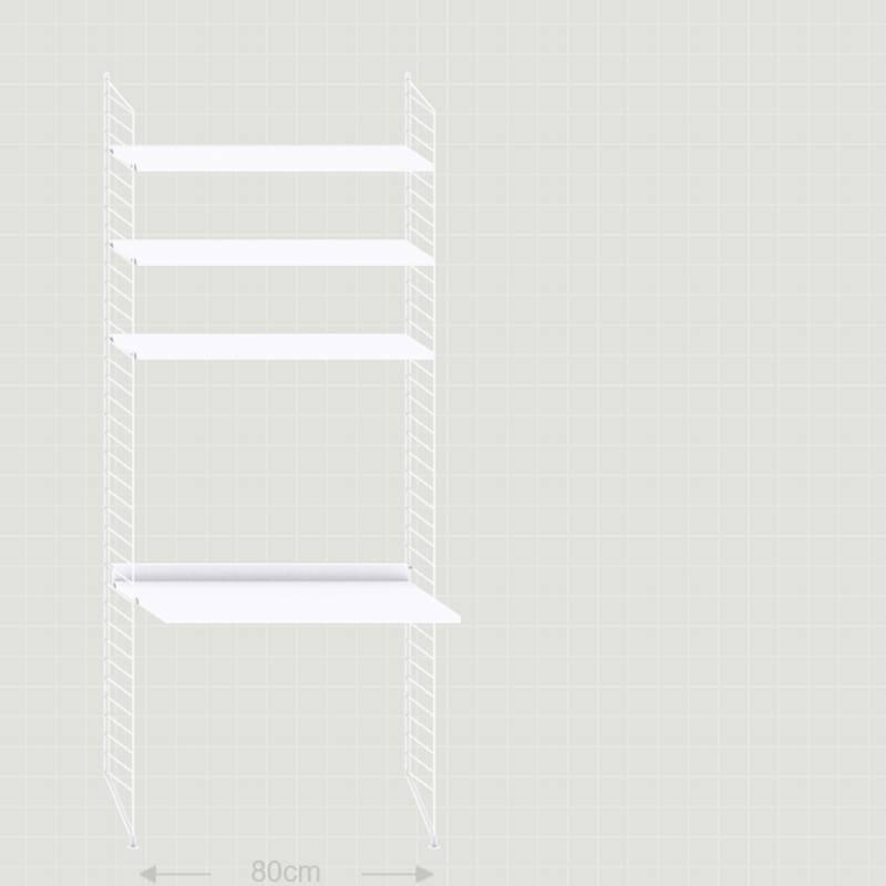 String Wandrek met bureau (wit)