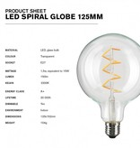 NUD Collection Lamp 125mm LED Spiral E27