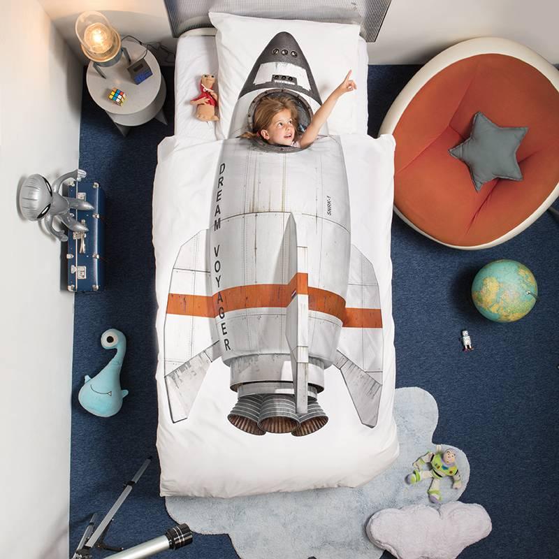 SNURK beddengoed Rocket dekbedovertrek 1p