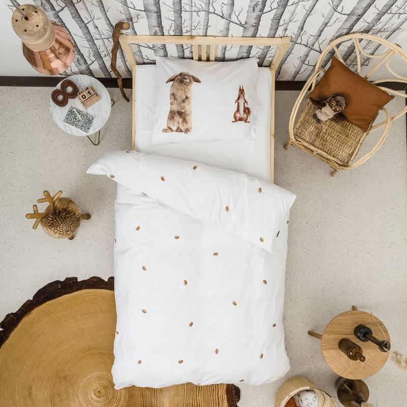 SNURK beddengoed Furry Friends dekbedovertrek KATOEN