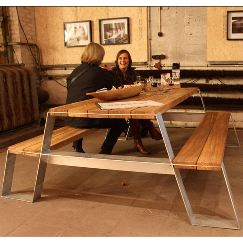 Vonk Fuse Table à pique-nique (galvanisé)