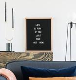 Funkk Zwart Vilt Letterbord L eik (incl letters)