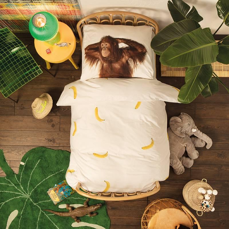 SNURK beddengoed Banana dekbedovertrek 1p