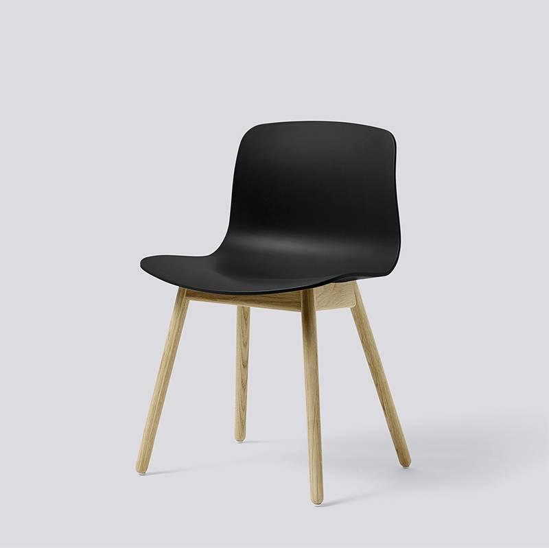 HAY About A Chair AAC12 - Mat gelakt eikenhouten onderstel