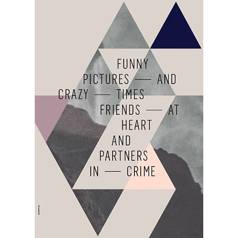I Love My Type Poster 'Friends at heart' Beige