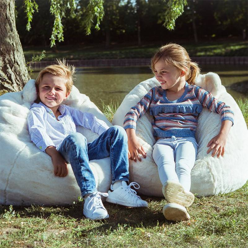 Wild&Soft Pouf ours polaire