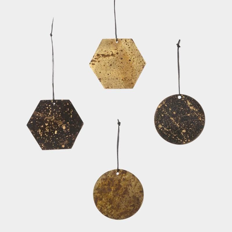 Fermliving Pendules en patine messing (set pct)