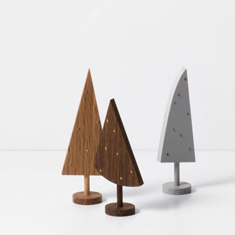 Fermliving Arbres déco en bois (set de 3 pcs)