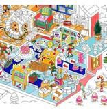 OMY Kleurposter Kerstfabriek