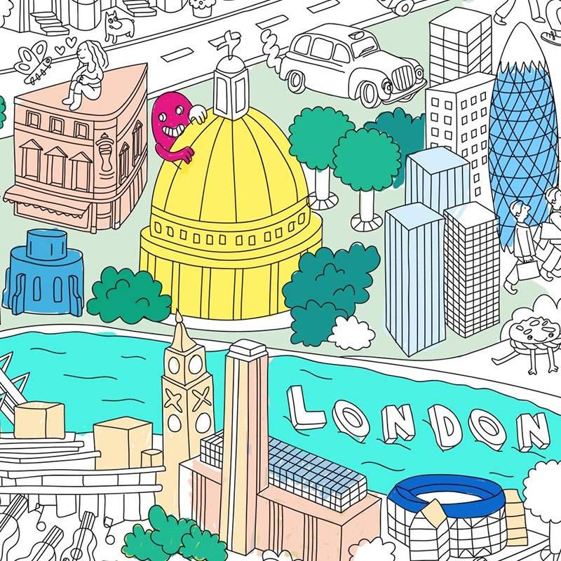 OMY Poster à colorier City