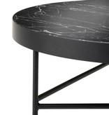 Fermliving Table d'appoint en marbre noir