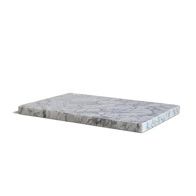Other brands Planche à couper en marbre blanc S