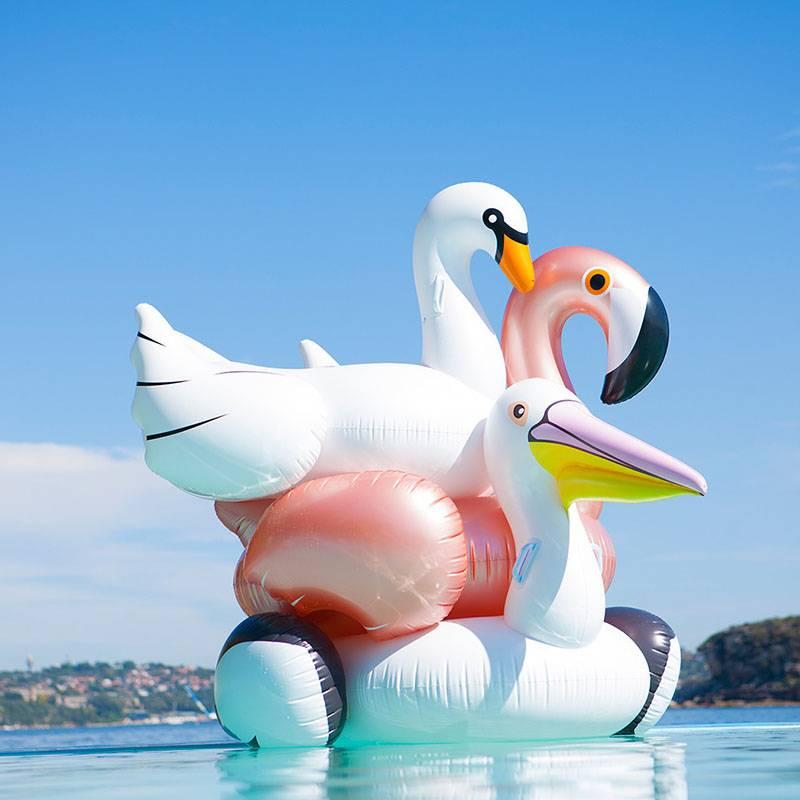 Sunnylife Luxe float opblaasfiguren wit Pelikaan
