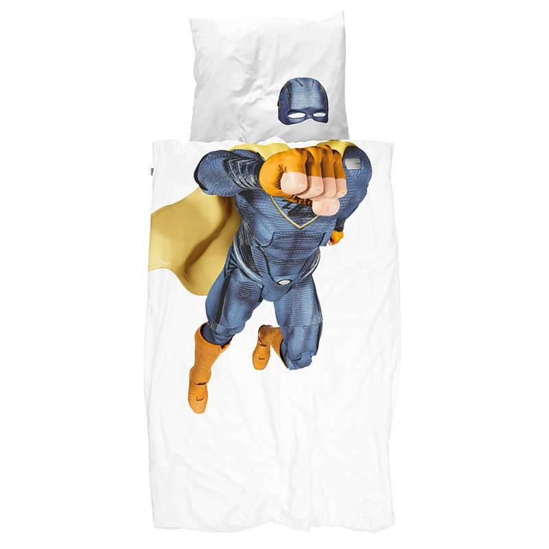 SNURK beddengoed Housse de couette Superhero bleu