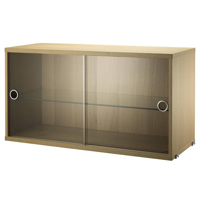 String vitrine kast (glas) 78x30xH42cm