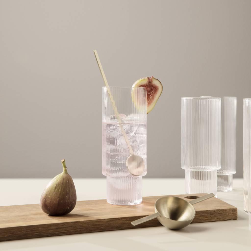 Fermliving Ripple long drinks glasses clear (set van 4)
