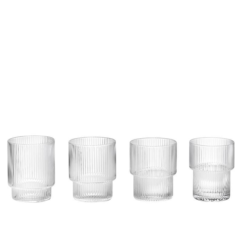 Fermliving Ripple Glass (set of 4) - Fermliving