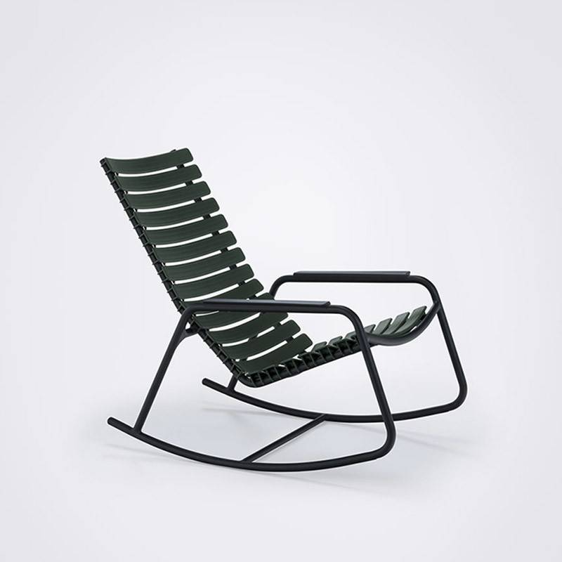 Houe CLIPS Rocking Chair zwart frame & armleuning