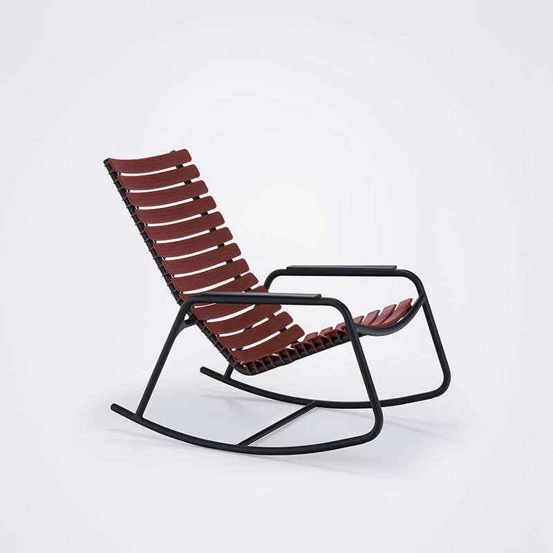Houe CLIPS Rocking Chair noir cadre & accoudoir