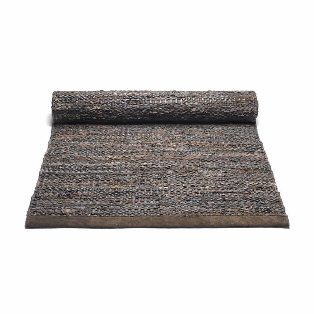 Rug Solid Leder tapijt 170 x 240 cm