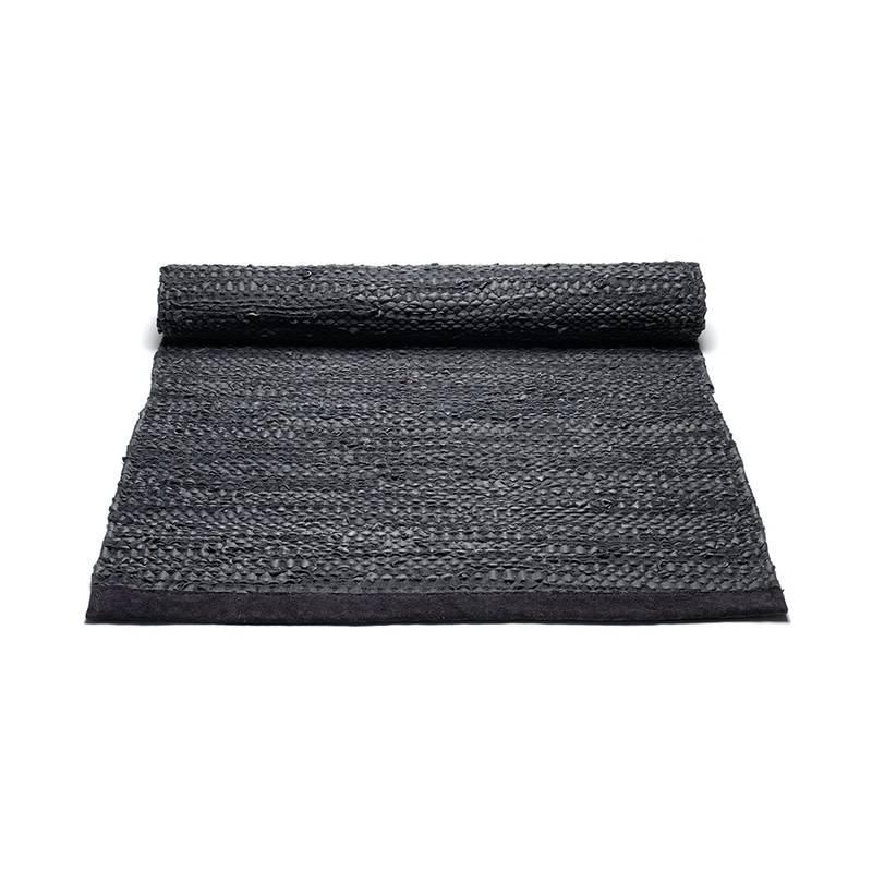 rug solid tapis en cuir 200 x 300 cm - Tapis 200x300
