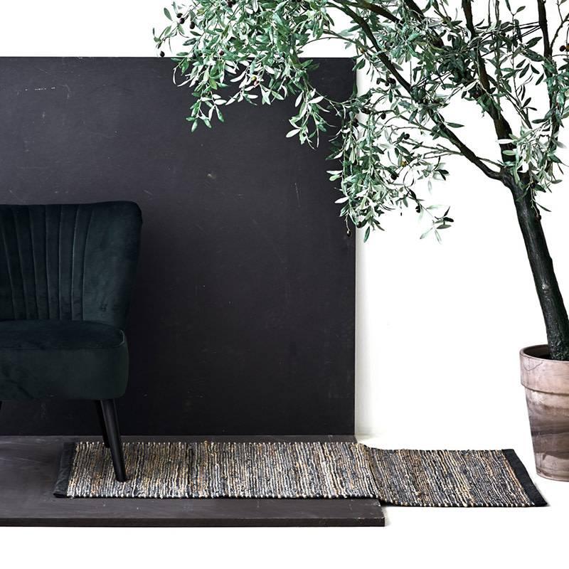 Rug Solid Jute/Leder tapijt 140 x 200 cm