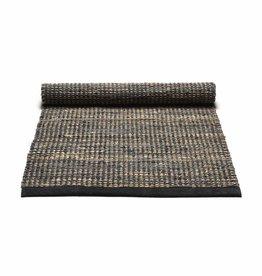Rug Solid Jute/Cuir tapis 140 x 200 cm