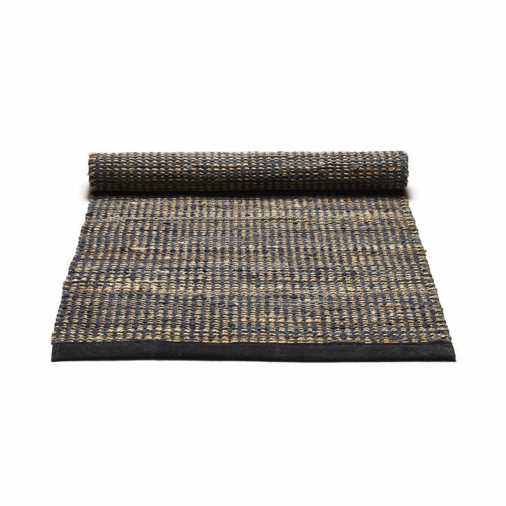 Rug Solid Jute/Leather tapijt 140 x 200 cm