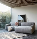 Fest Amsterdam Clay sofa -  1.5seat arm left  + longchair L arm right - Polvere 90 grey (fast delivery)