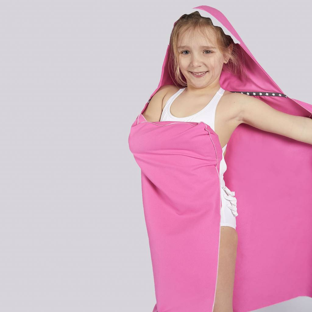 Little champions Swim cape de bain Requin rose