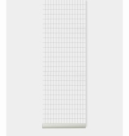 Fermliving Behang grid zwart/wit